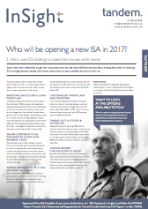 -Who will be opening a new ISA in 2017